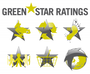 Green Star Ratings icon set