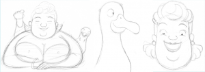 Rough early concept sketches