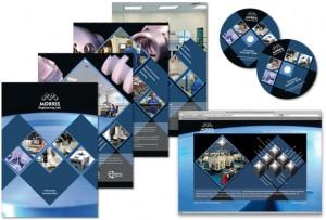 CNC engineering website, brochure and CD rom