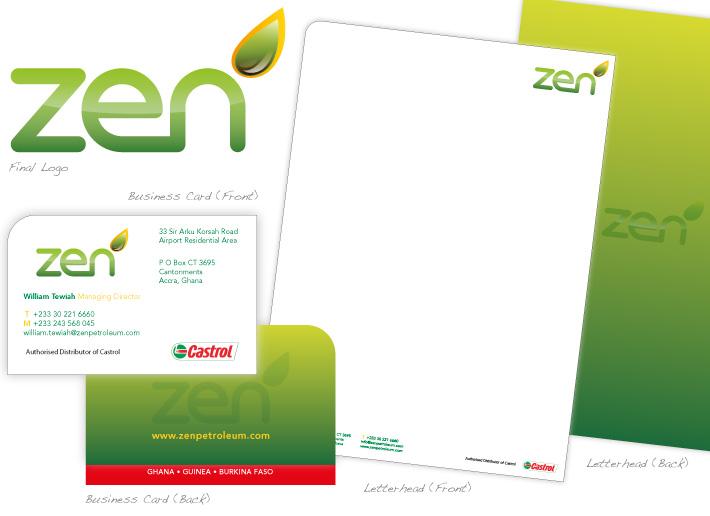 Zen Petroleum Logo & Stationary