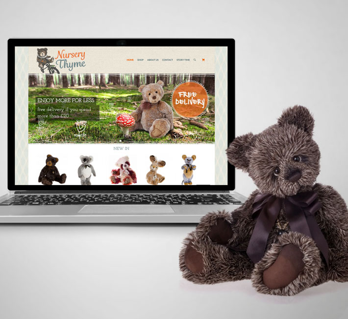 Nursery Thyme E-commerce Website - Design