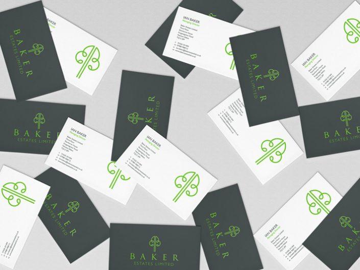 Baker Estates Ltd business card design by Logo Design